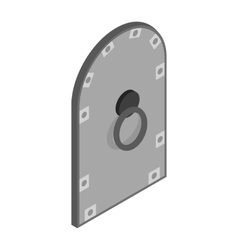 Arched steel door icon isometric 3d style vector