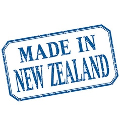 New zealand - made in blue vintage isolated label vector