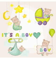 Baby bearset - for baby shower card vector