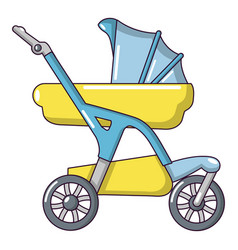 baby carriage designer icon cartoon style vector image