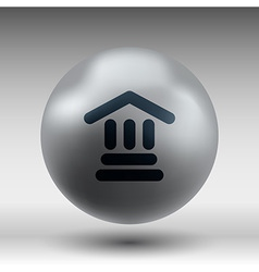 Bank icon isolated symbol building vector