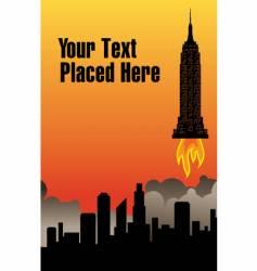 city rocket vector image