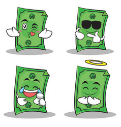dollar character cartoon style of set vector image vector image