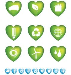 eco hearts vector image