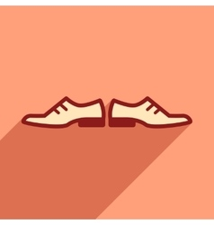 Flat web icon with long shadow male shoes vector
