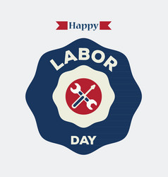 labor day logo label vector image vector image