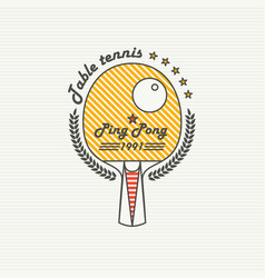 Logo league table tennis ping pong vector