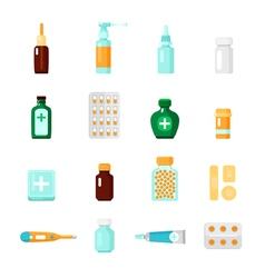 Medications icon set vector