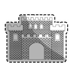 Medieval cartoon icon vector