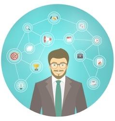 Modern Businessman Hipster Conceptual Infographics vector image