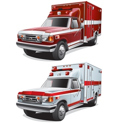municipal ambulance vector image vector image