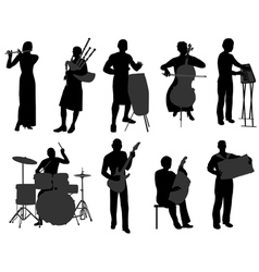 musicians 2 vector image