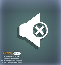 Mute speaker sign icon Sound symbol On the vector image vector image