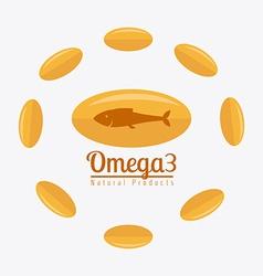 Omega oil design vector