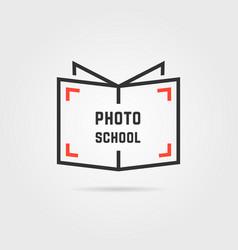 photo school logo with shadow vector image vector image