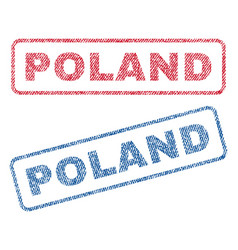 Poland textile stamps vector