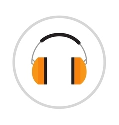 Protective ear muffs isolated on a white vector