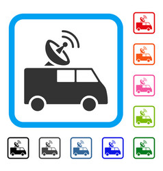 Radio control car framed icon vector