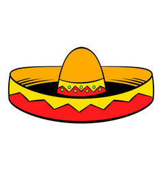 sombrero icon cartoon vector image vector image