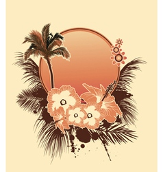 summer with hibiscus vector image vector image