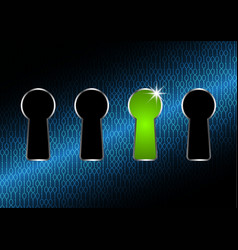 Technology digital cyber security keyhole vector