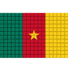 The mosaic flag of Cameroon vector image vector image