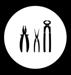 Three variations of pliers hand tools vector