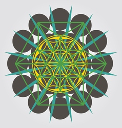 unique geometrical design with sacral sense vector image vector image
