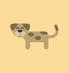 Flat icon on background pet dog vector
