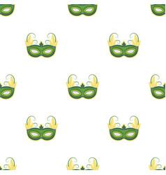brazilian carnival mask icon in cartoon style vector image