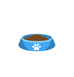 Isolated kitty food flat icon cat eating vector