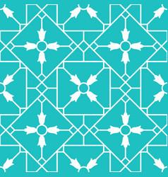 Blue arabic ornamental ceramic tile vector