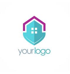 home shield secure logo vector image