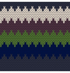 Seamless knit pattern vector