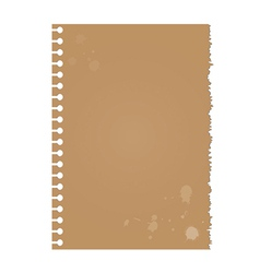Dirty torn paper vector image