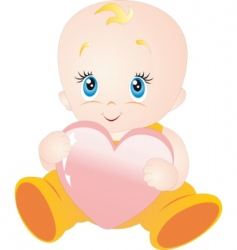 baby with heart vector image