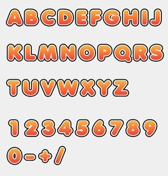 Alphabet abc and numbers vector