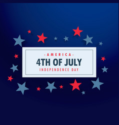4th of july background with stars vector