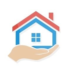 House in hand logo or icon vector