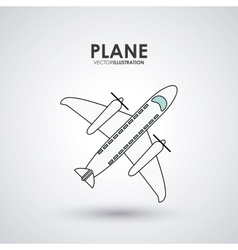Plane icon design vector