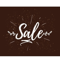 Sale drawn lettering typography vector
