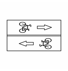 Road for cyclists icon outline style vector
