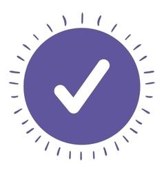 Check symbol isolated icon design vector