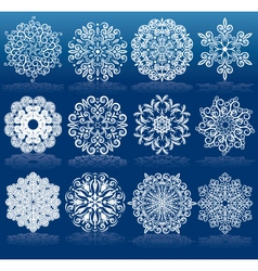 Christmas design snowflakes vector
