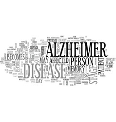 Alzheimer research text word cloud concept vector