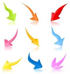 arrow6 vector image vector image