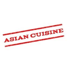 Asian cuisine watermark stamp vector