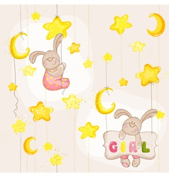 Baby bunny seamless pattern vector