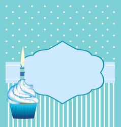 birthday card template for boys vector image