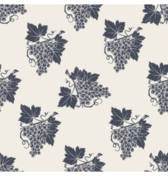 Branch of grape with leaves seamless pattern vector image vector image